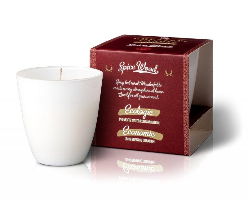 The Greatest Candle Vonná sviečka v skle (130 g) - drevo a korenie