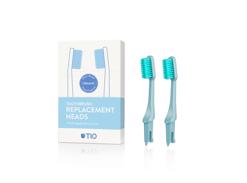 TIO Náhradné hlavice k zubnej kefke (ultra soft) (2 ks) - ľadovcovo modrá