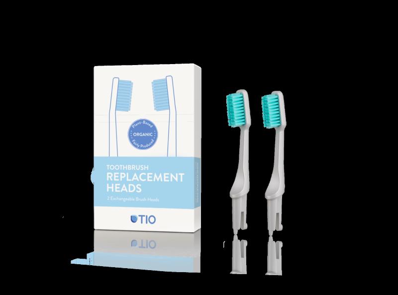 TIO Náhradné hlavice k zubnej kefke (ultra soft) (2 ks) - sivá
