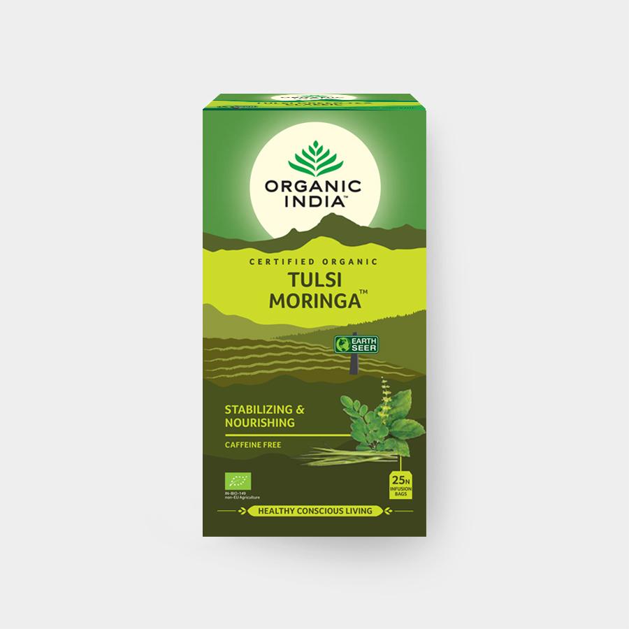 Organic India Tulsi Moringa BIO, 25 sáčků