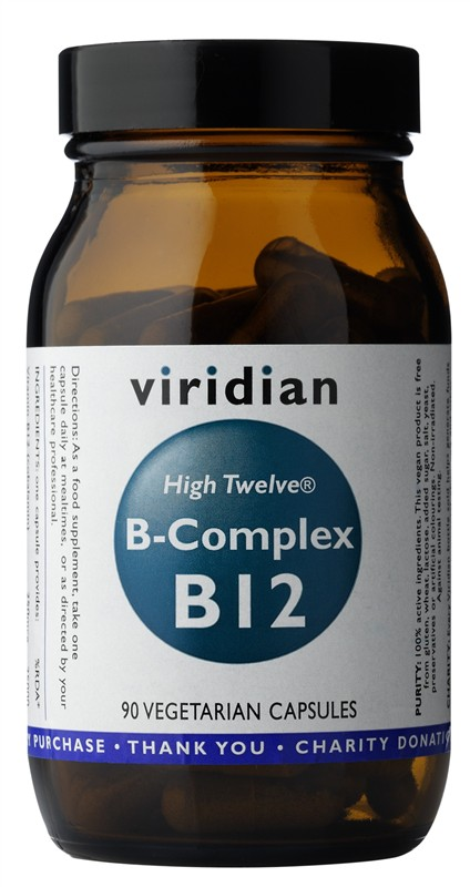 Viridian B-Complex B12 High Twelwe® 90kapslí