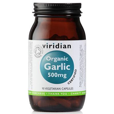 Viridian Garlic 500mg 90 kapslí Organic