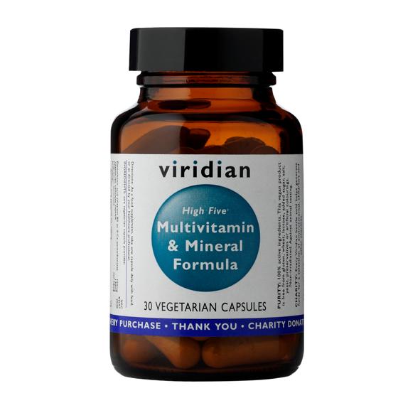 Viridian High Five Multivitamin & Mineral Formula Počet kapsúl: 30