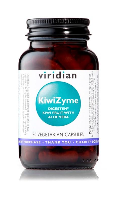 Viridian KiwiZyme (trávicí enzymy) 30 kapslí
