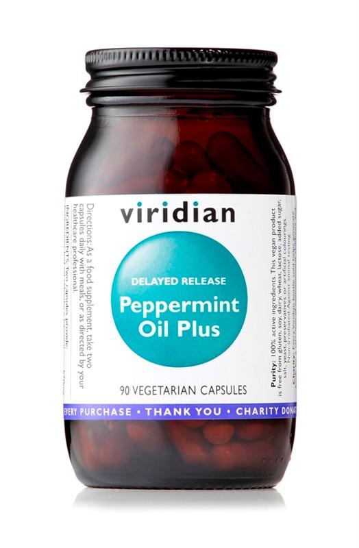 Viridian Peppermint Oil Plus 90 kapslí (olej z mátových listů)