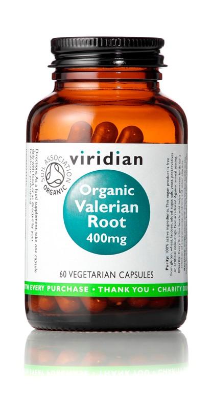 Viridian Valerian Root 400mg 60 kapslí Organic (Kozlík lékařský)