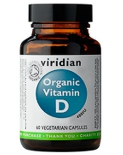 Viridian Vitamin D 60 kapslí Organic