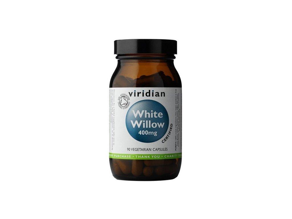 Viridian White Willow Bark 400mg 90 kapslí Organic (kůra z Vrby bílé - Salix alba)