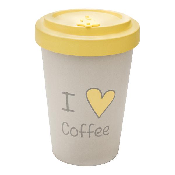 Woodway - opakovaně použitelný kelímek z bambusu I love coffee 400 ml