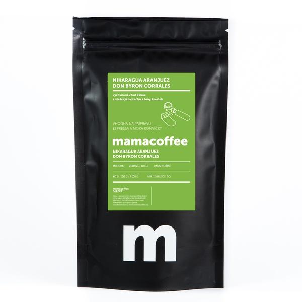 Mamacoffee - Nikaragua Aranjuez Don Byron Corrales, 100g Druh mletie: Zrno