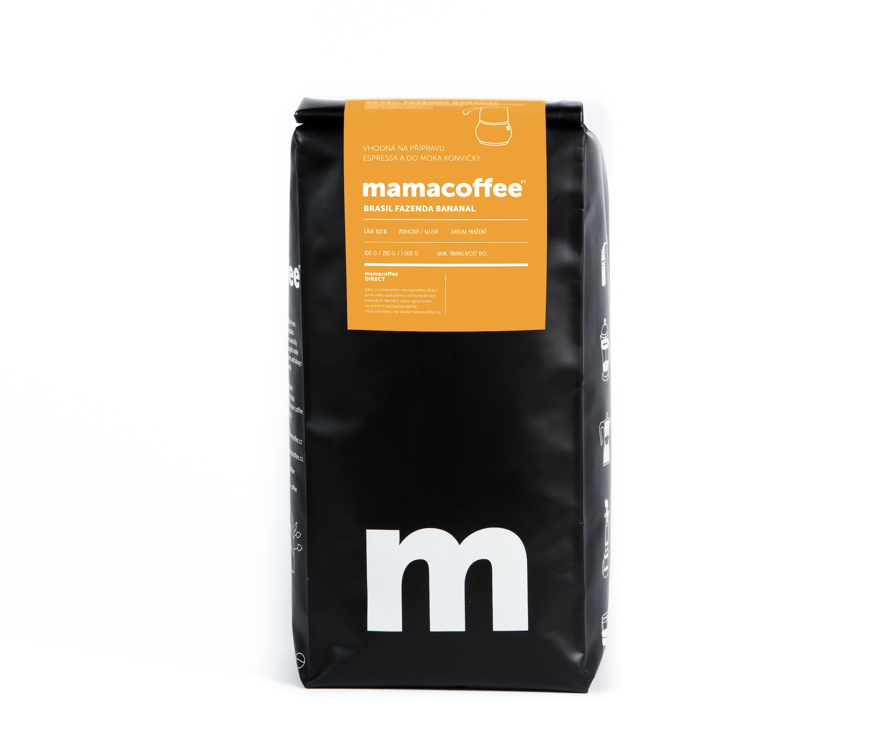 Mamacoffee - Brasil fazenda Bananal, 1000g Druh mletie: Mletá Expirace 11.8.2021