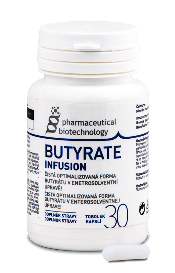 Pharmaceutical Biotechnology Butyrate Infusion 30 kapslí (Čistá forma butyrátu)