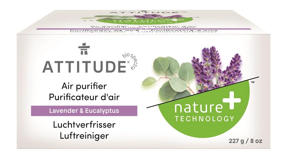 Attitude - Prírodný čistiaci osviežovač vzduchu s esenciálnymi olejmi s vôňou levandule a eukalyptu, 227g