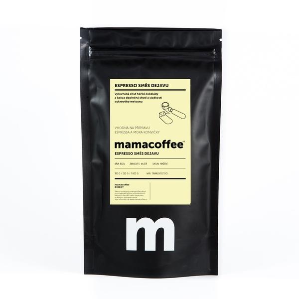 Mamacoffee - Espresso zmes Dejavu, 100g Druh mletie: Mletá
