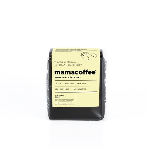 Mamacoffee - Espresso zmes Dejavu, 250g Druh mletie: Zrno