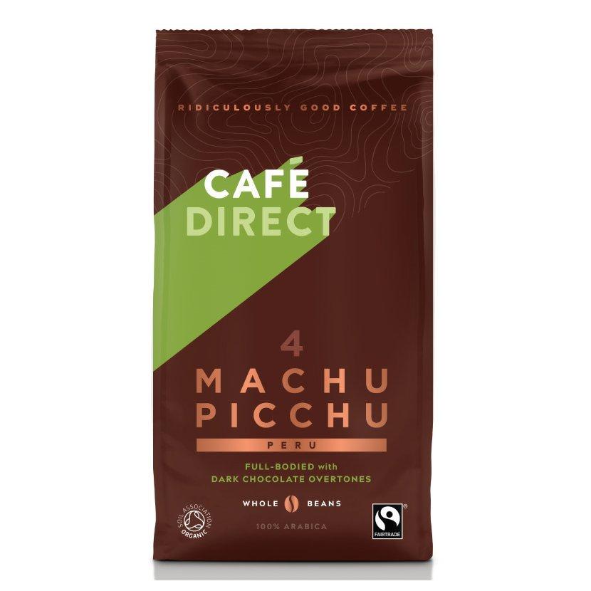 Cafédirect - BIO Machu Picchu SCA 82 zrnková káva, 227 g