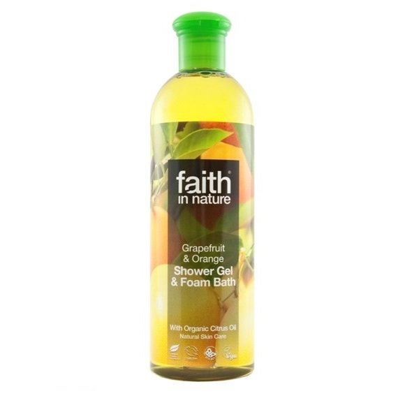 Faith in Nature, Sprchový gél - BIO Grapefruit & Pomaranč, 400ml