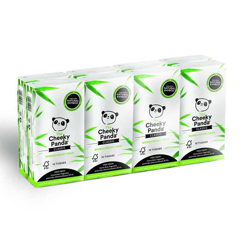 Cheeky Panda vreckové obrúsky 3-vrstvové, 8 balení