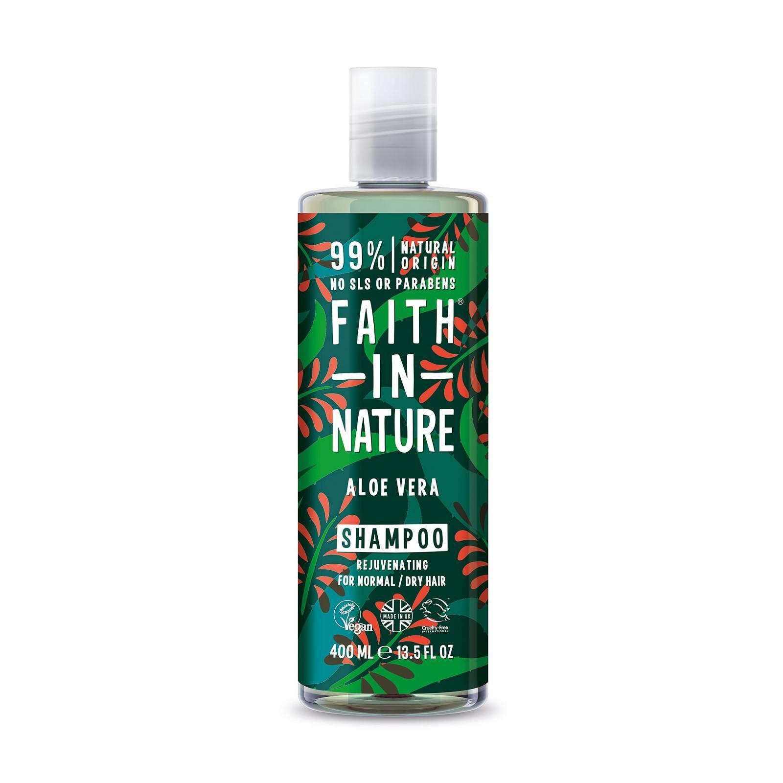 Faith In Nature prírodný šampón - s BIO aloe vera, 400 ml