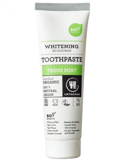 URTEKRAM, Zubní pasta bělící 75ml BIO, VEG