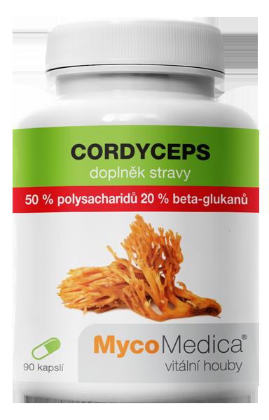 MycoMedica - Cordyceps 50% ve vysoké koncentraci, 90 rostlinných kapslí