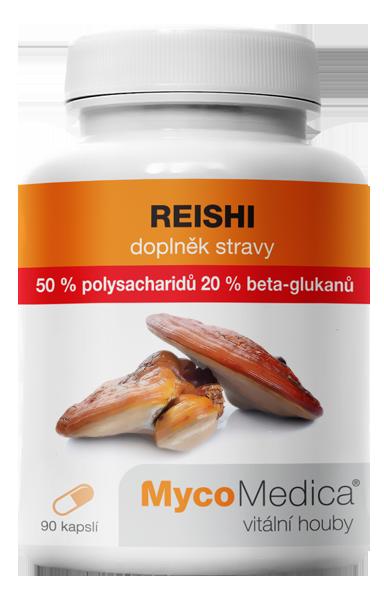 MycoMedica - Reishi 50% ve vysoké koncentraci, 90 rostlinných kapslí