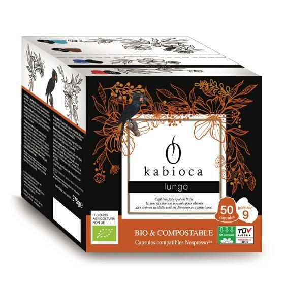 Cafédirect BIO kompostovateľné kávové kapsule pre Nespresso Lungo, 50 ks