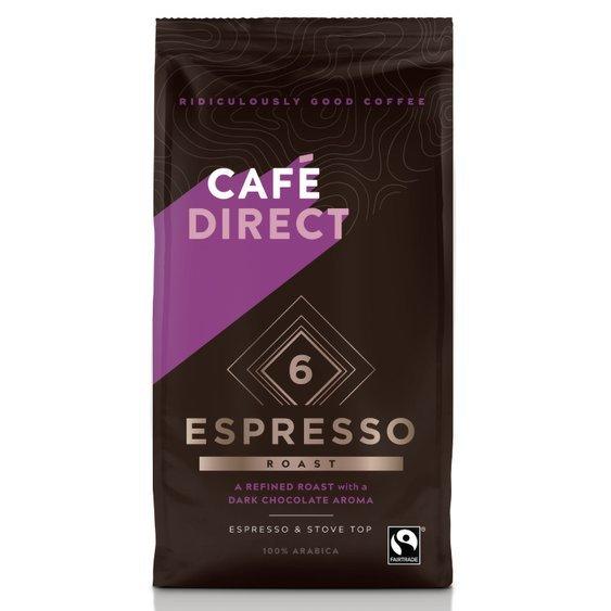 Cafédirect - Arabika Espresso mletá káva s tóny hořké čokolády 227g