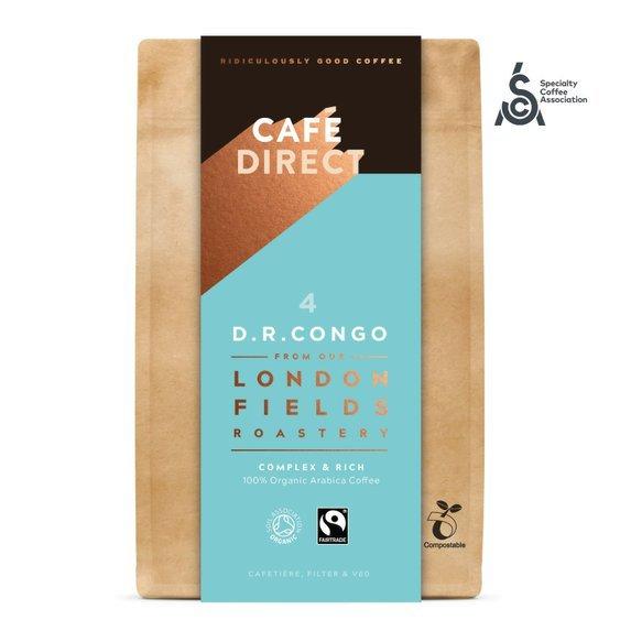 Cafédirect - BIO mletá káva Congo SCA 84 s tóny medu a hořké čokolády 200g