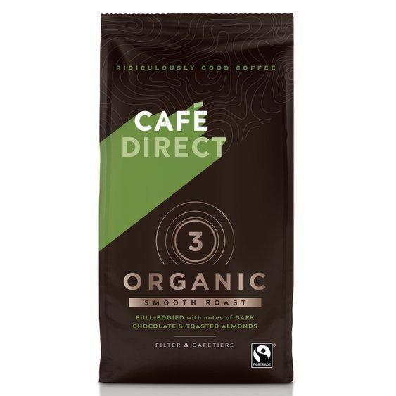 Cafédirect - BIO Organic Smooth mletá káva s tóny pražených mandlí 227g
