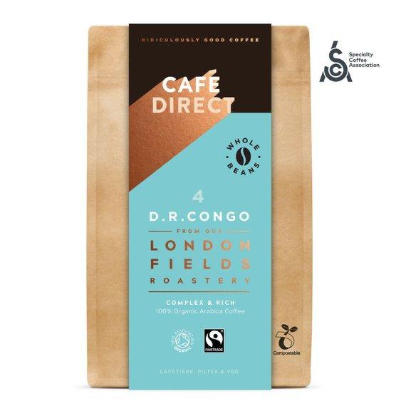 Cafédirect - BIO zrnková káva Congo SCA 84 s tóny medu a hořké čokolády 200g