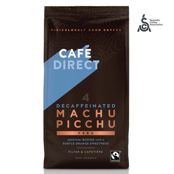 Cafédirect - Machu Picchu SCA 82 mletá káva bez kofeínu, 227 g