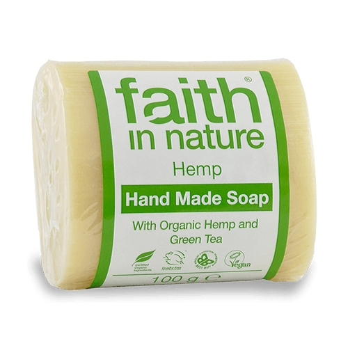 Faith in Nature tuhé mydlo - HEMP citrus/konope, 100 g