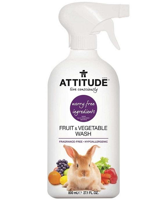 Attitude - čistiaci prostriedok na ovocie a zeleninu, bez vône, 800 ml