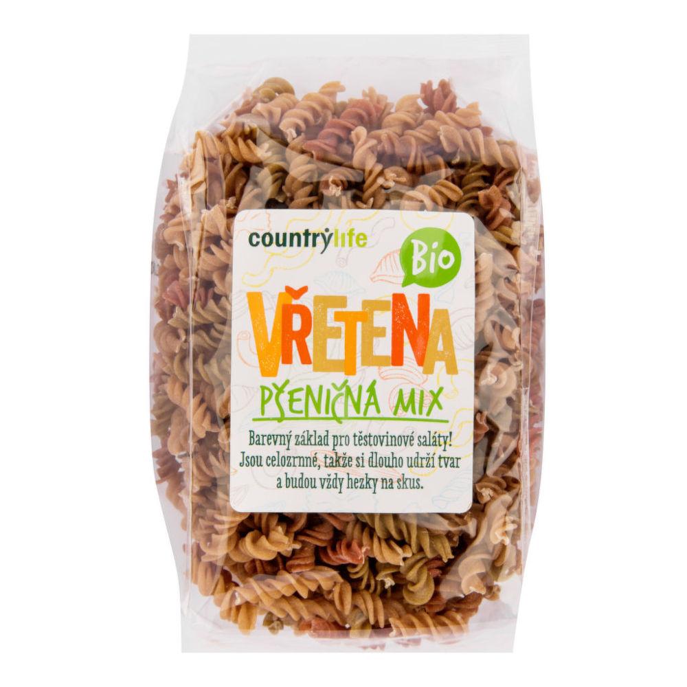 CountryLife - cestoviny vretená pšeničné mix BIO, 400 g