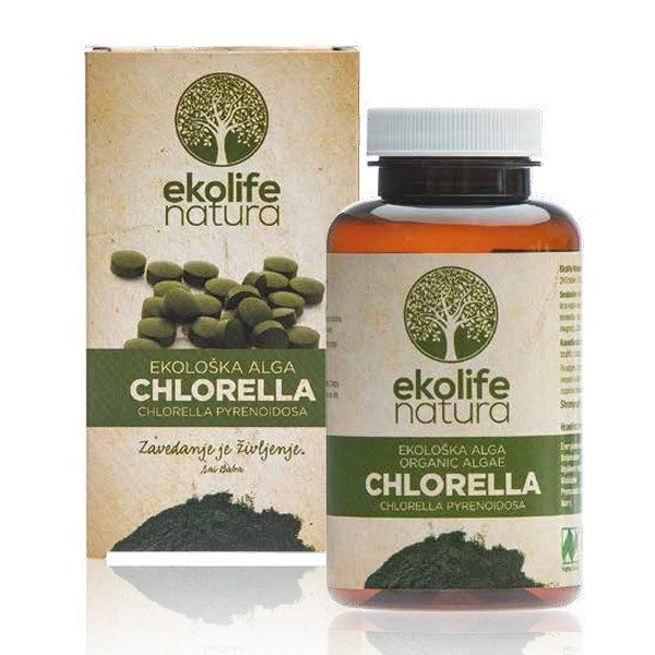 Ekolife Natura - Algae Chlorella Organic (bio riasa chlorella), 240 tabliet