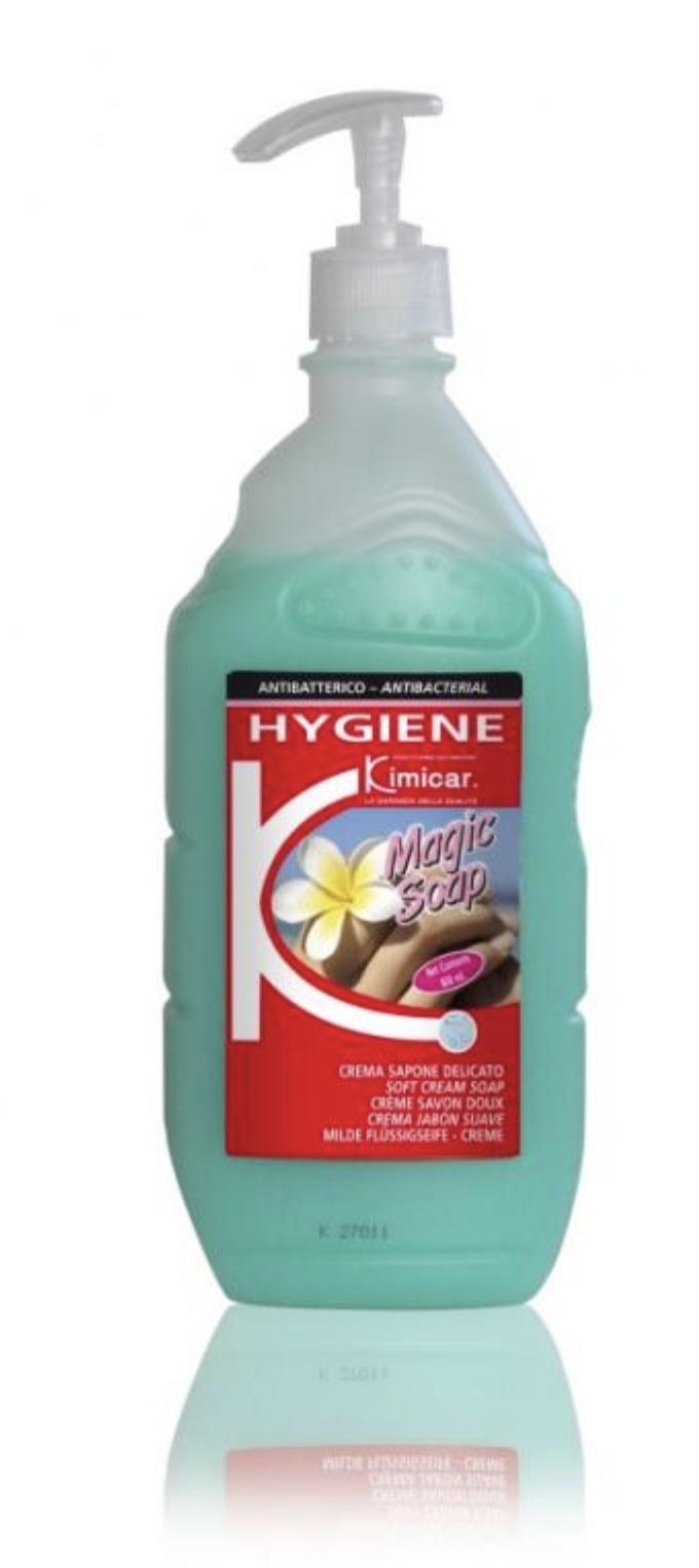 Kimicar Tekuté dezinfekční a antibakteriální mýdlo se svěží vůní, Magic Soap Green, 800 ml