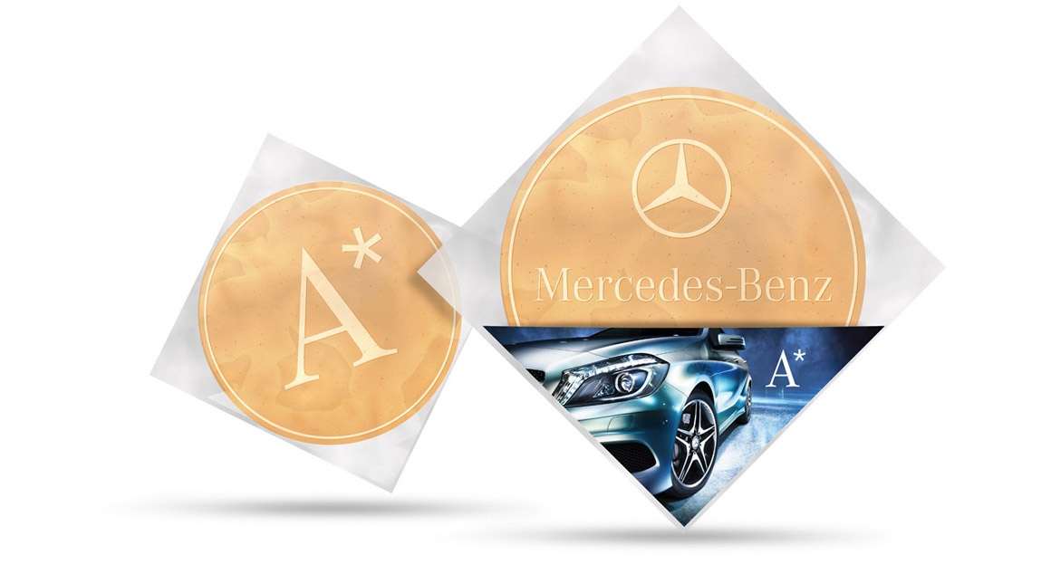 Branded Wafers Mercedes Benz