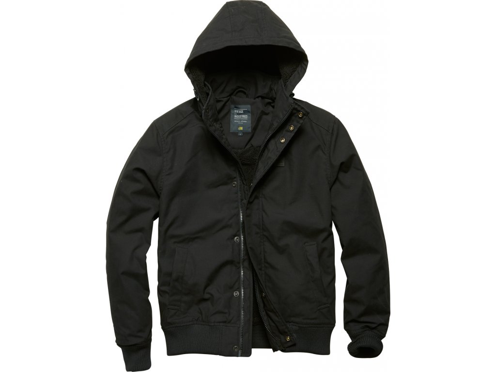 Vintage Industries BUNDA Hudson jacket černá