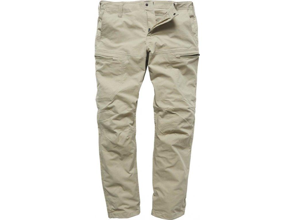 Vintage Industries KALHOTY Kenny technical pants béžové