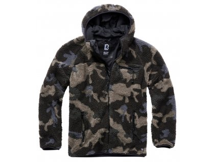 BRANDIT BUNDA Teddyfleece Worker Jacket Darkcamo