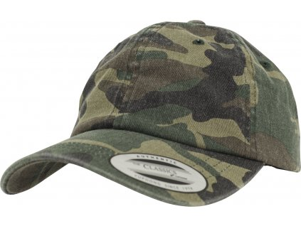 BRANDIT KŠILTOVKA Low Profile Camo Washed Cap Woodland