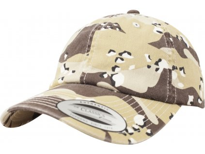 BRANDIT KŠILTOVKA Low Profile Camo Washed Cap 6-color desert