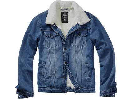 BRANDIT BUNDA Sherpa Denim Jacket Modrá