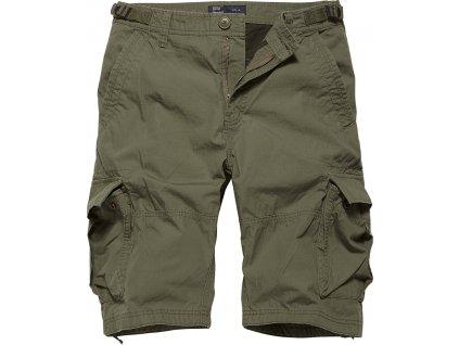 Vintage Industries KRAŤASY Terrance shorts olivové