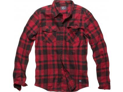 Vintage Industries KOŠILE Austin shirt červené kostky