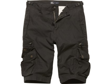 Vintage Industries KRAŤASY Gandor shorts černé