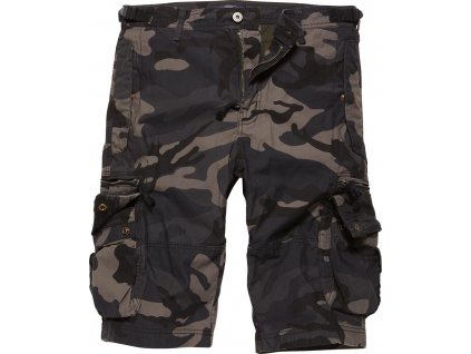 Vintage Industries KRAŤASY Gandor shorts darkcamo