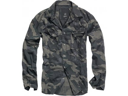 BRANDIT KOŠILE Shirt slim MEN Darkcamo