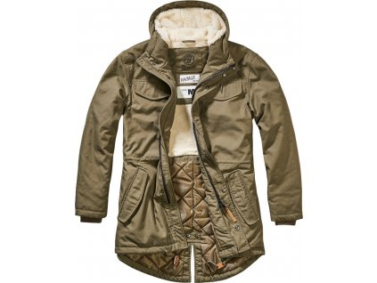 BRANDIT BUNDA Marsh Lake Teddyparka MEN Olivová